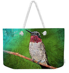 Ruby Throated Hummingbird Weekender Tote Bag by Betty LaRue