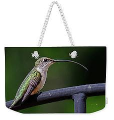 Ruby-throated Hummingbird Tongue Weekender Tote Bag