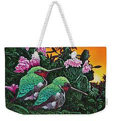 Ruby-throated Hummingbirds Weekender Tote Bag