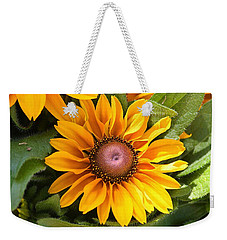 Weekender Tote Bag featuring the photograph Rudbeckia Bloom by Sheila Brown