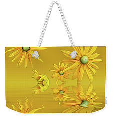 Weekender Tote Bag featuring the photograph Rudbekia Yellow Flowers by David French