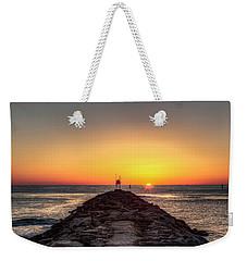 Rudee Inlet Jetty Weekender Tote Bag