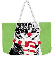 Rudolph The Red Nosed Cat- Art By Linda Woods Weekender Tote Bag
