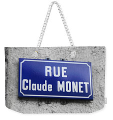 Weekender Tote Bag featuring the photograph Rue Claude Monet by Therese Alcorn