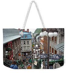 Weekender Tote Bag featuring the photograph rue du Petit Champlain by John Schneider