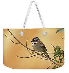 Rufous-collared Sparrow Weekender Tote Bag