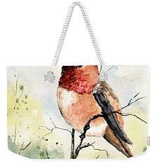 Rufous Hummingbird Weekender Tote Bag by Sam Sidders