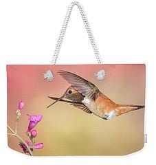 Rufous Hummingbird With Penstemon Weekender Tote Bag