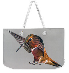 Rufous Male Hummingbird Weekender Tote Bag