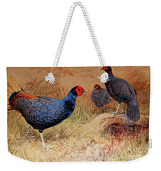 Rufous Tailed Crested Pheasant Weekender Tote Bag