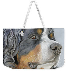 Weekender Tote Bag featuring the painting Regal And Relaxed by Donna Mulley