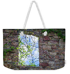 Weekender Tote Bag featuring the photograph Ruin Of A Window - Bridgetown Millhouse  Bucks County Pa by Bill Cannon