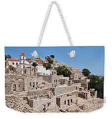 Ruined Village On Tilos Weekender Tote Bag