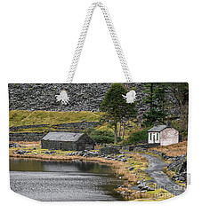 Weekender Tote Bag featuring the photograph Ruins At Cwmorthin by Adrian Evans