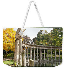 Weekender Tote Bag featuring the photograph Ruins In The Park by Victoria Harrington