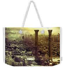Weekender Tote Bag featuring the photograph Ruins Of Jurash by Robert G Kernodle