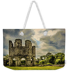 Weekender Tote Bag featuring the painting Ruins Of Mellifont Abbey by Jeff Kolker