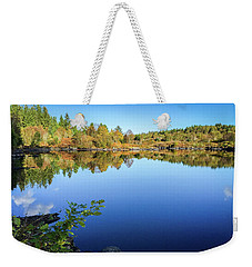 Weekender Tote Bag featuring the photograph Ruminating The Fall by Geoff Smith