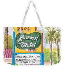 Rummel Motel In Las Vegas, Nevada Weekender Tote Bag