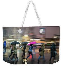 Run Between The Raindrops Weekender Tote Bag