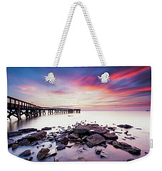 Weekender Tote Bag featuring the photograph Run To The Sun by Edward Kreis