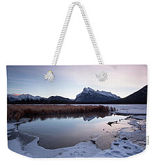 Rundle Mountain Reflections Weekender Tote Bag