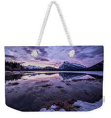 Rundle Mountain Skies Weekender Tote Bag