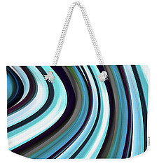 Weekender Tote Bag featuring the digital art Running Blue by Wendy J St Christopher