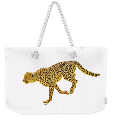 Running Cheetah 2 Weekender Tote Bag