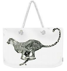 Running Cheetah Weekender Tote Bag