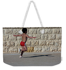 Running Child Weekender Tote Bag