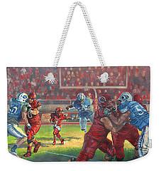 Running Courage Weekender Tote Bag by Jeff Brimley