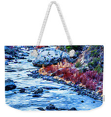 Weekender Tote Bag featuring the photograph Running Dry by Nancy Marie Ricketts