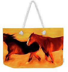 Running Horses 01 Weekender Tote Bag