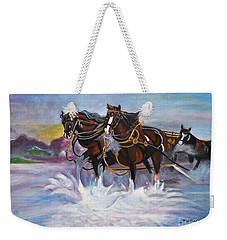 Running Horses- Beach Gallop Weekender Tote Bag