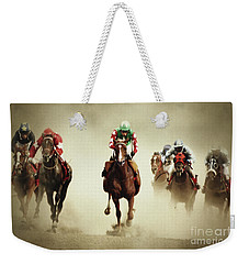 Running Horses In Dust Weekender Tote Bag