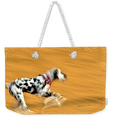 Weekender Tote Bag featuring the photograph Running In The Dog Park by Kae Cheatham