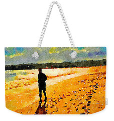 Running In The Golden Light Weekender Tote Bag