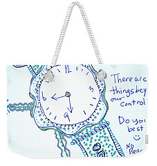 On Time Weekender Tote Bag by Carole Brecht
