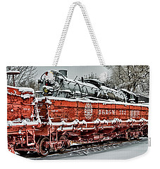 Weekender Tote Bag featuring the photograph Running Out Of Steam by Jeffrey Jensen