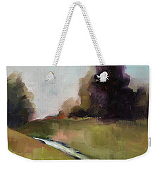 Weekender Tote Bag featuring the painting Running Stream by Michelle Abrams