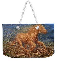 Running Swirly Horse Weekender Tote Bag