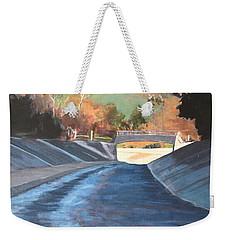 Running The Arroyo, Wet Weekender Tote Bag