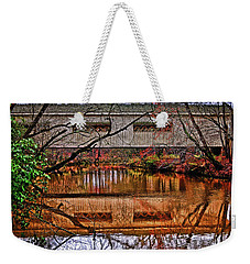 Running Waters Covered Bridge 025 Weekender Tote Bag by George Bostian