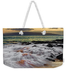Running Wave At Keawakapu Beach Weekender Tote Bag