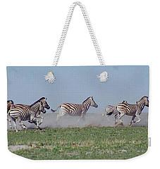 Running Zebras Weekender Tote Bag