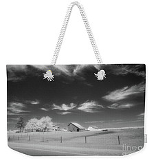 Rural Landscape, Black And White Infrared Weekender Tote Bag