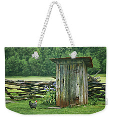 Weekender Tote Bag featuring the photograph Rural Outhouse by Nikolyn McDonald