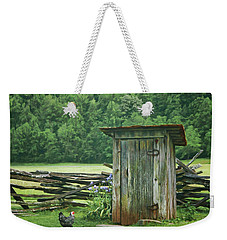 Rural Outhouse Weekender Tote Bag