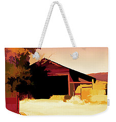 Rural Pop No 1 Hay Shed And Tree Weekender Tote Bag